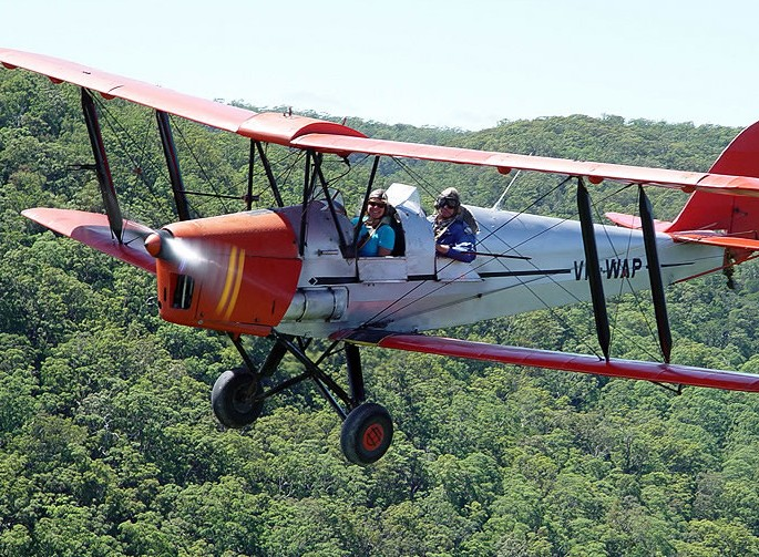 Tigermoth Joy Rides - QLD Tourism