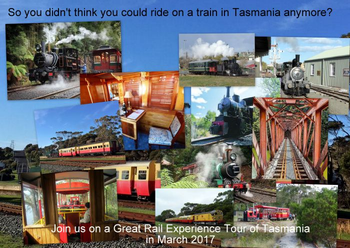Great Rail Experiences  Tasmania Tour 2017 - QLD Tourism