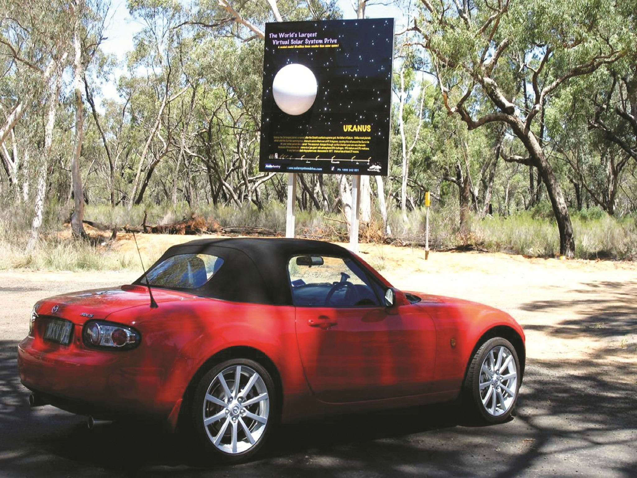 Worlds Largest Virtual Solar System Drive - QLD Tourism