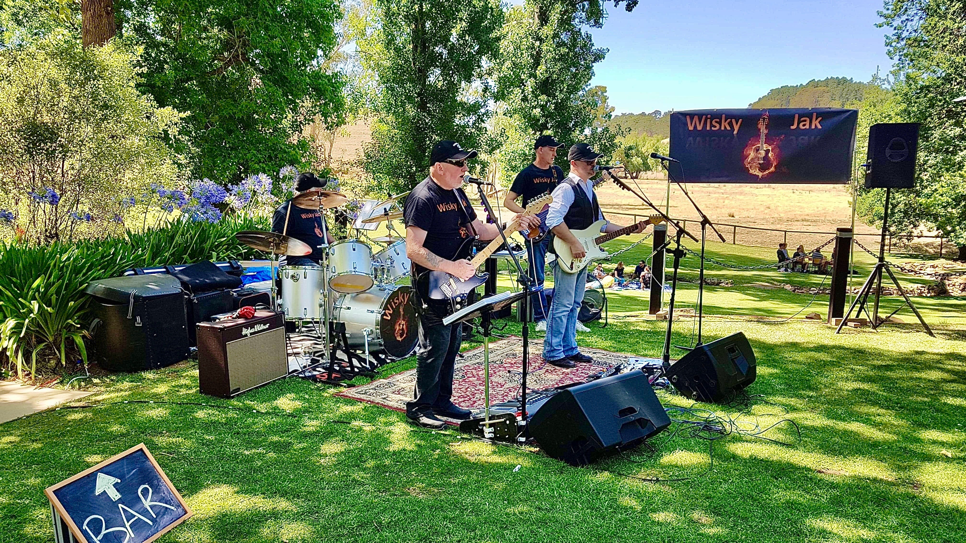 Angas Plains Wines Live in the Vines with the band -Wisky Jak - QLD Tourism