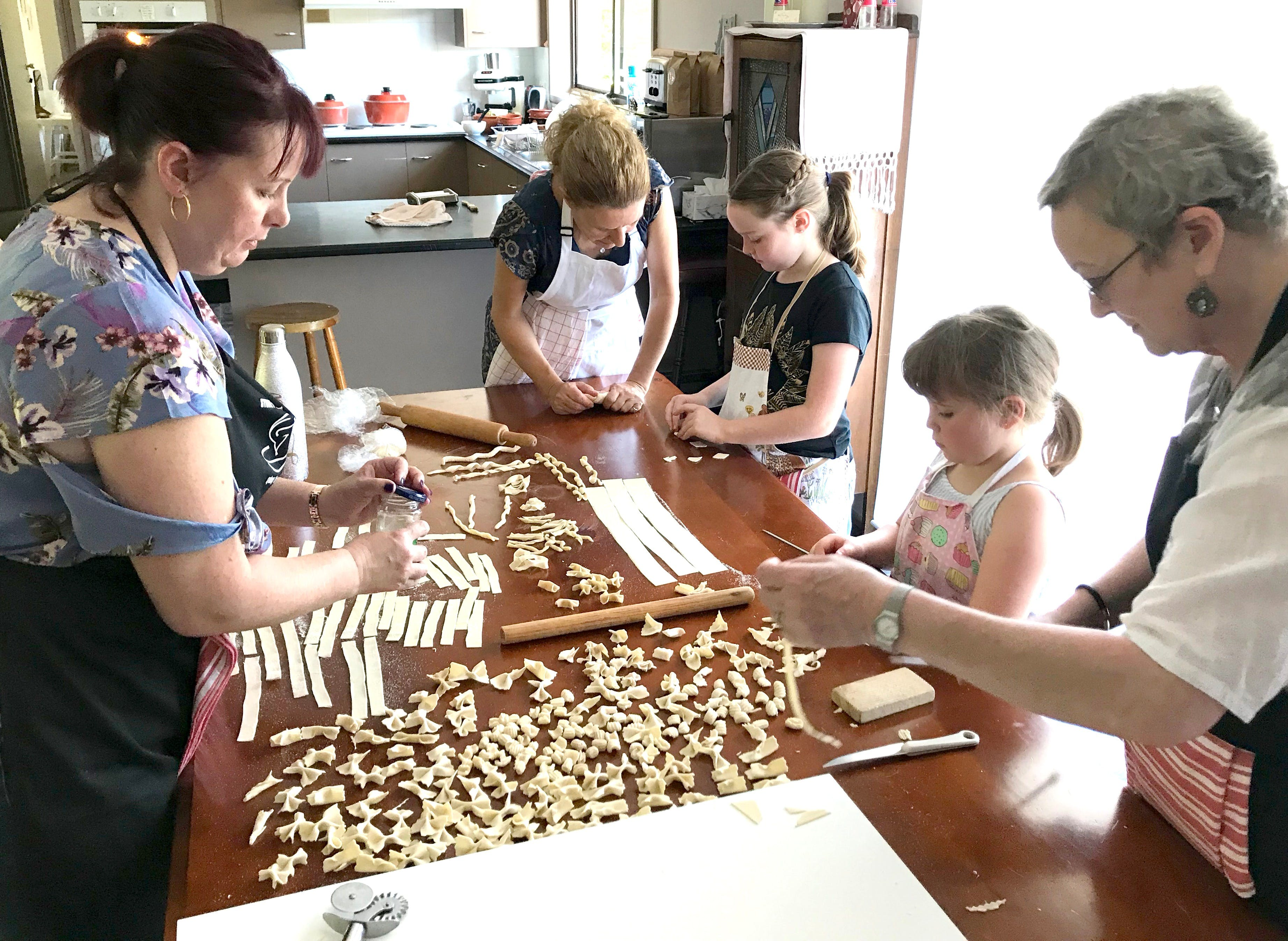 Kids Pasta Making Class - hands on fun at your house - QLD Tourism