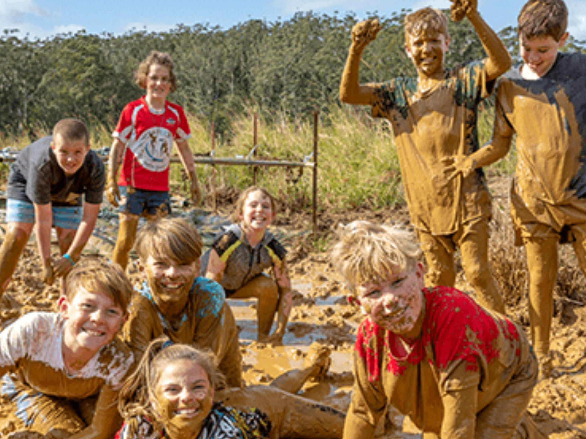 Mini Muddies Obstacle Challenge at Bunnamagoo Estate - QLD Tourism