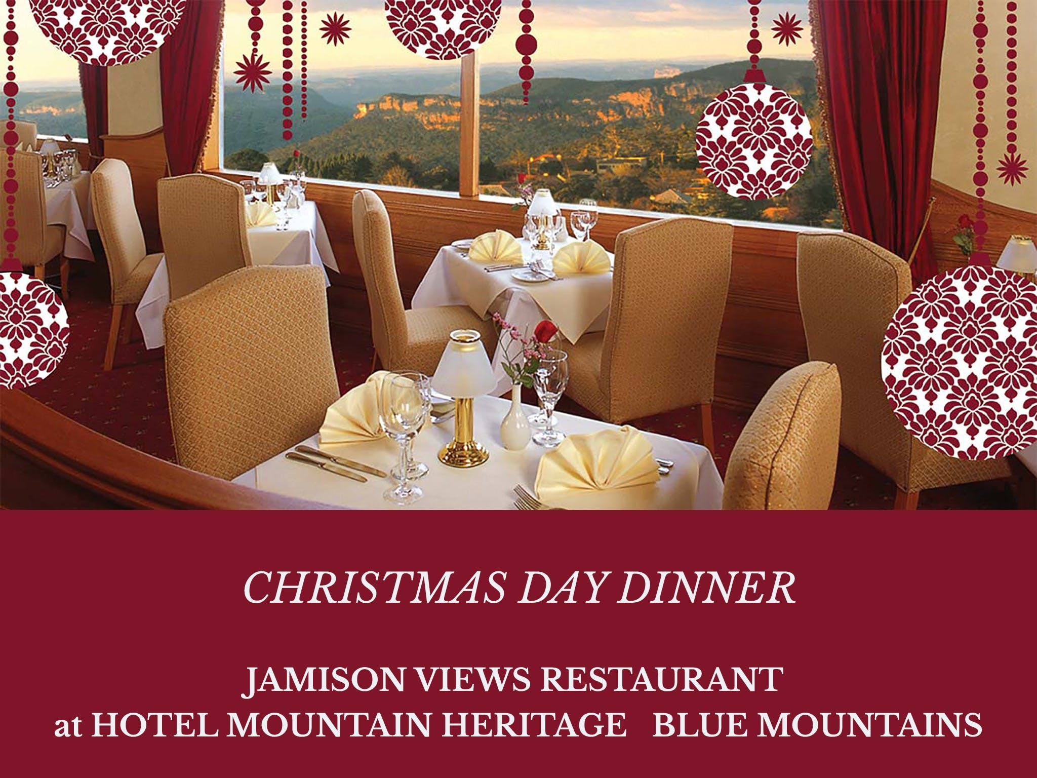Christmas Day Dinner Hotel Mountain Heritage - QLD Tourism