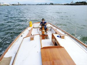 Cruising Yacht in Marina - QLD Tourism